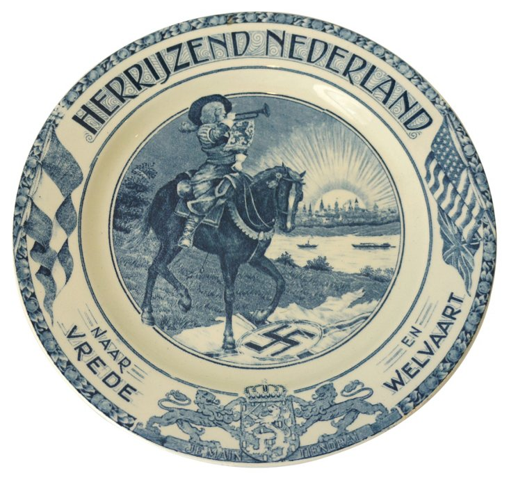 Blue & White Holland Plate