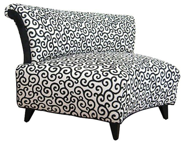 Mid Century Swirl Slipper Chair