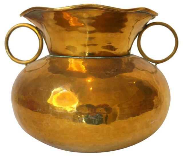 Brass Pot w/ Rings