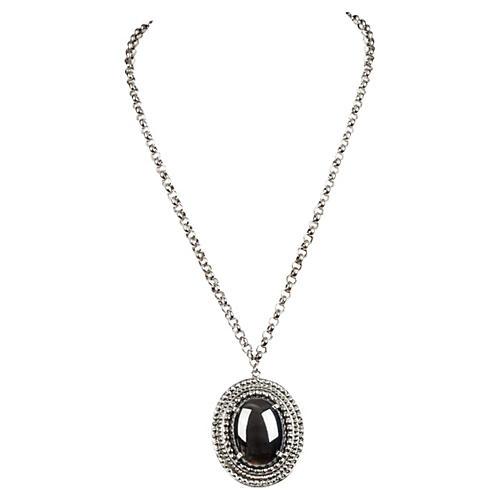 Whiting & Davis Hematite Necklace