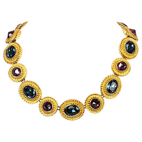 Christian Dior Goldtone Jewel Necklace