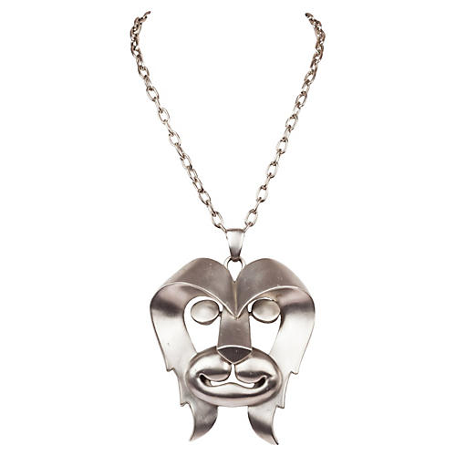 Pierre Cardin Lion Pendant Necklace
