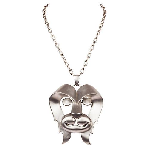 Pierre Cardin Lion Pendant Necklace