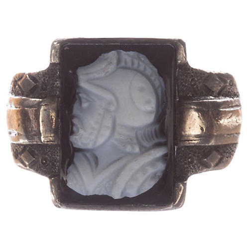 Victorian Agate Cameo Perseus Ring