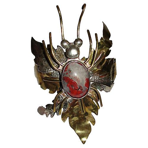 Brutalist Red Jasper Bug Bracelet
