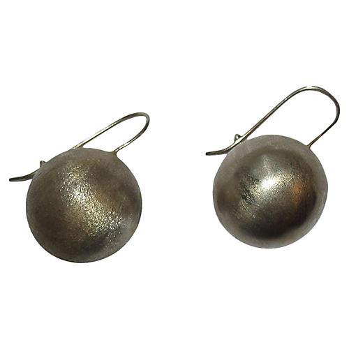 Sterling Ball Drop Earrings
