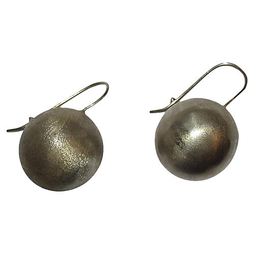 Sterling Ball Drop Earrings