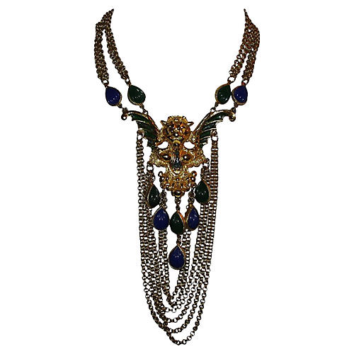 Griffin Runway Pendant Necklace