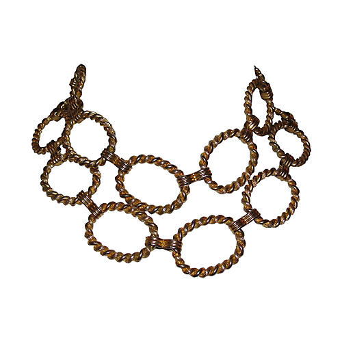 Circular Twisted Rope Necklace