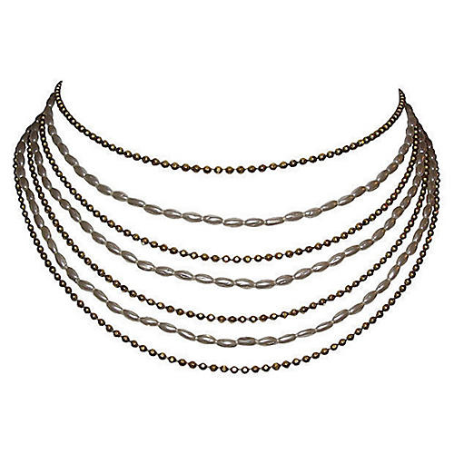 Chanel Multi-Strand Bib Necklace