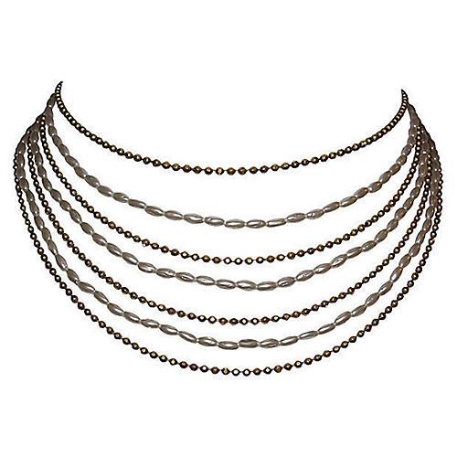 Chanel Multi-Strand Bib Necklace