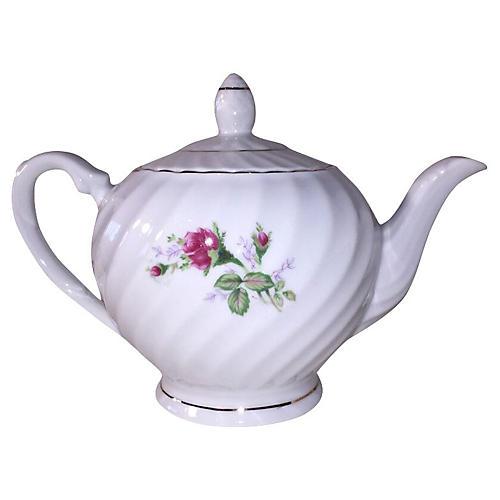 Japanese Floral Porcelain Teapot