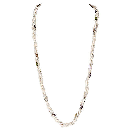 Freshwater Pearl Torsade Necklace
