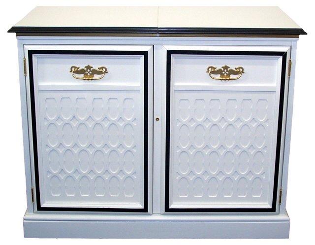 White & Black Bar Cabinet