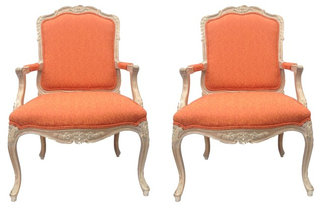 French-Style Fauteuil Chairs