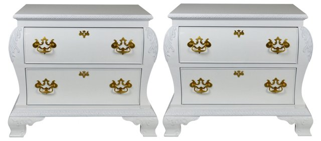 Century Lacquered Chests, Pair