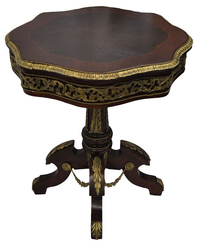 French  Empire-Style Inlaid Table