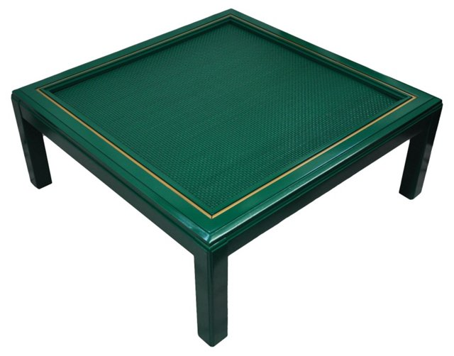Lacquered Rattan Coffee Table