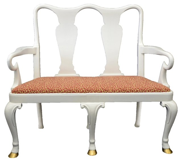 Queen Anne-Style Settee