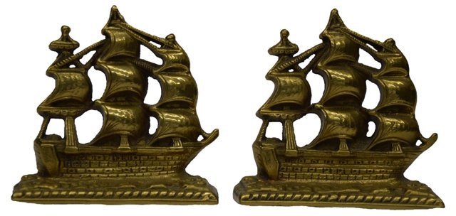Galleon Ship Bookends