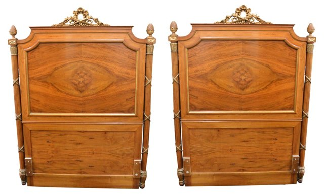 Neoclassical-Style Twin Headboards, S/2