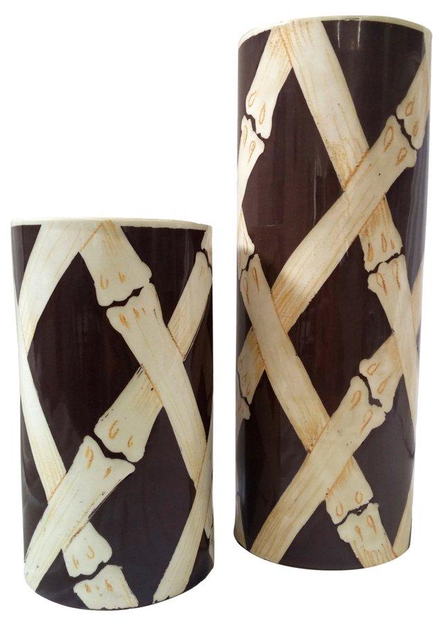 Italian Ceramic Vases, S/2