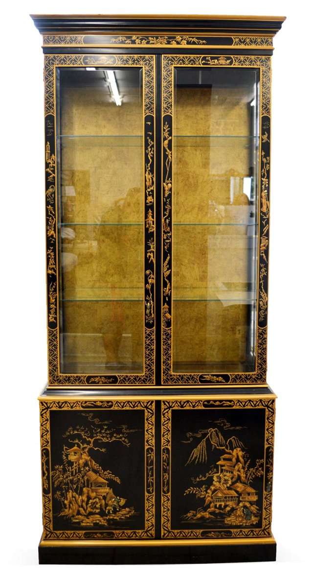 Asian-Style China Cabinet by Drexel