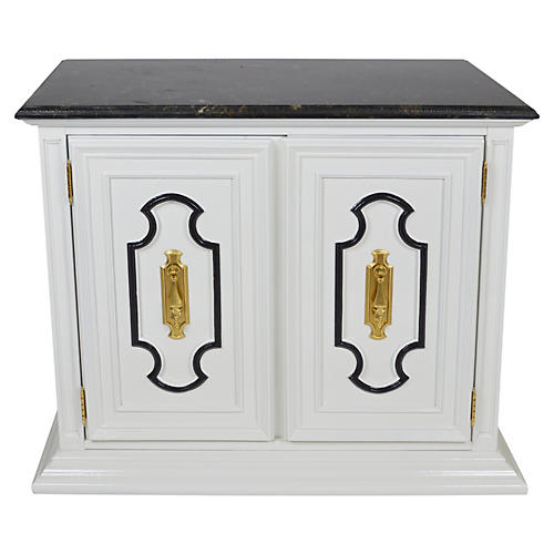 Dorothy Draper-Style Stanley Bar Cabinet