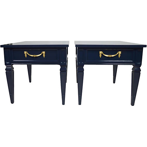 Neoclassical-Style Side Tables, Pair