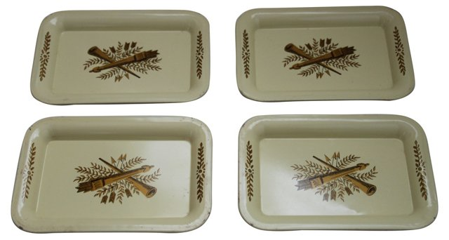 Tole Trays, Set of 4
