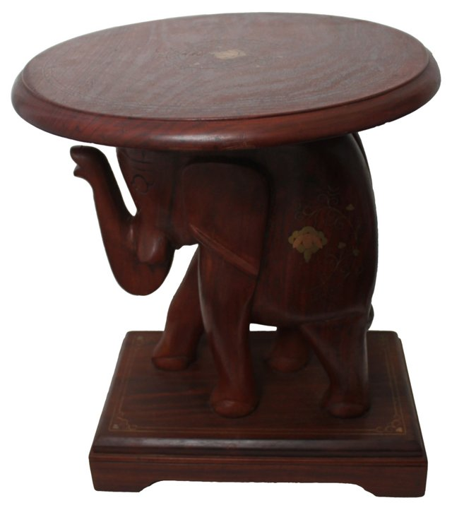 Inlaid Elephant Table