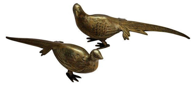 Brass Pheasants,  Pair