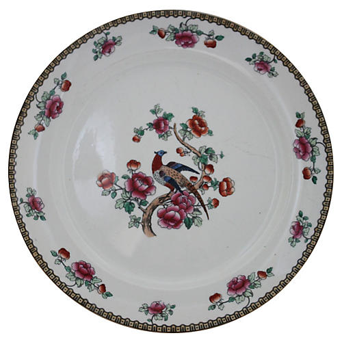 F Winkle & Co. Pheasant Cake Plate
