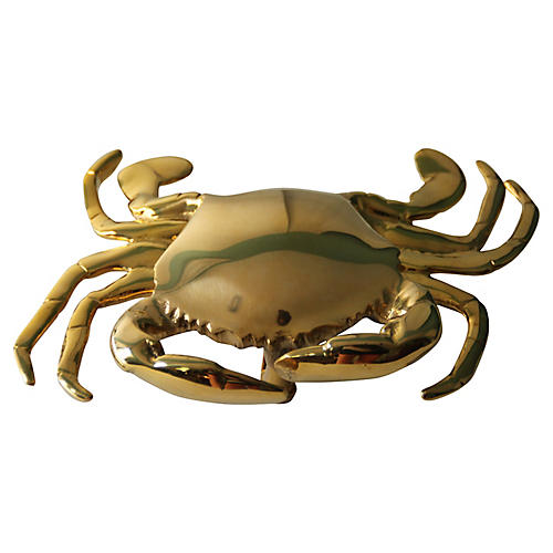 Brass Crab Door Knocker