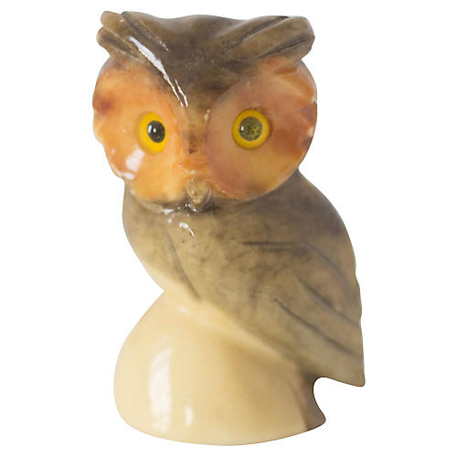 Alabaster Italian Carved Owl