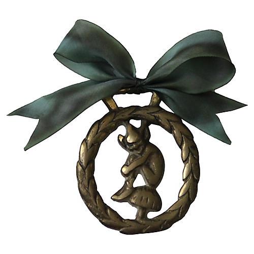 Brass Elf Ornament