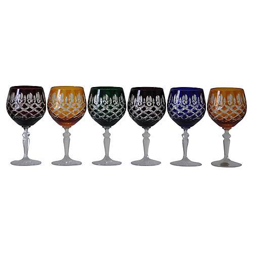 Polish Crystal Wineglasses, S/6