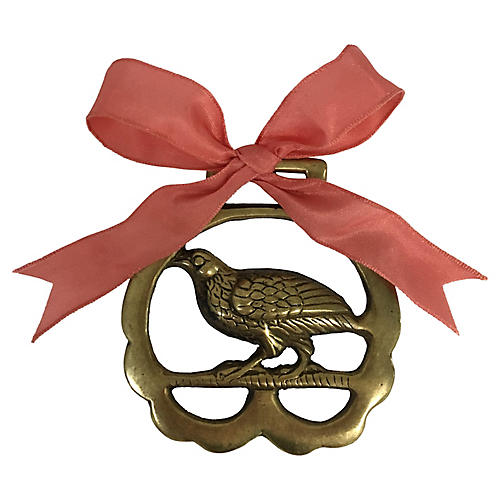 Antique English Quail Ornament