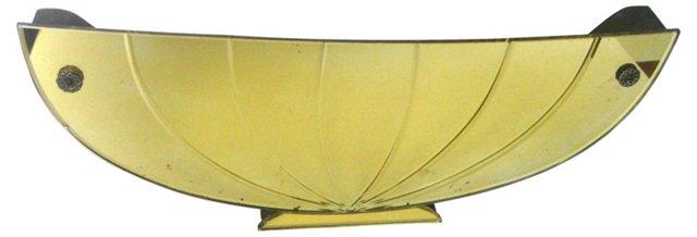 Etched Glass Basket Wall Pocket