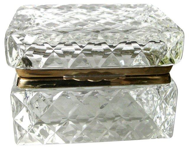 1920s Crystal Cigarette Box