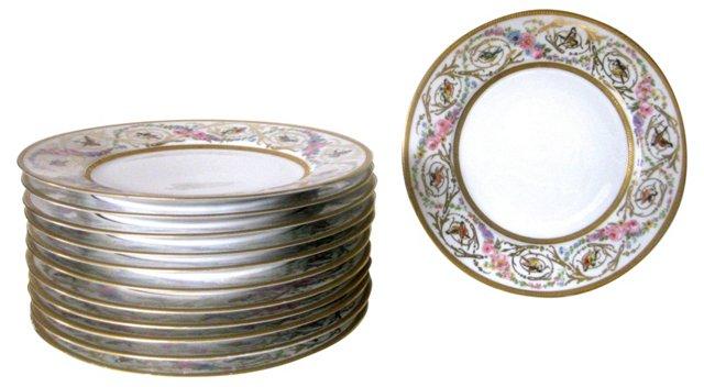 Limoges Dinner Plates, C. 1940, S/12