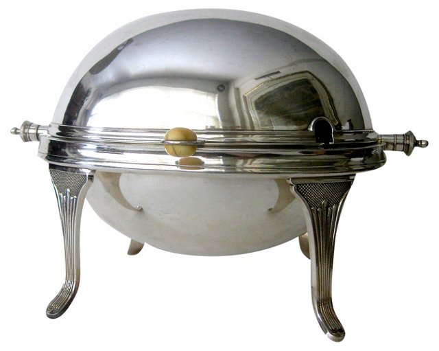 Antique Silverplate Food Dish