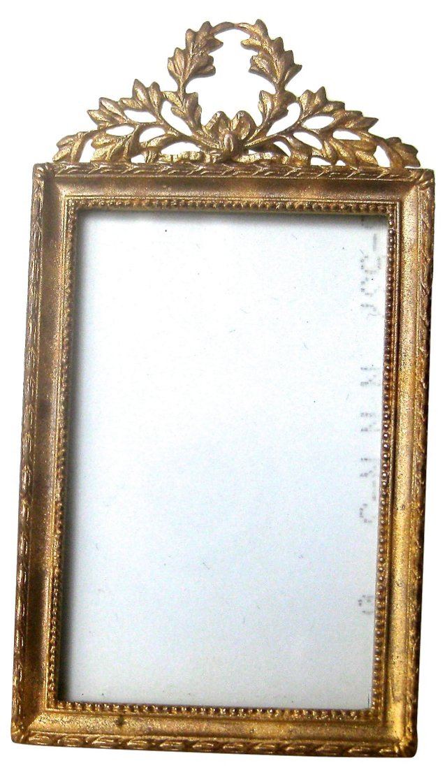 Antique French  Brass Mini-Frame
