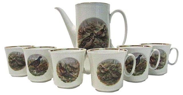 Coffee Pitcher & 6 Mugs