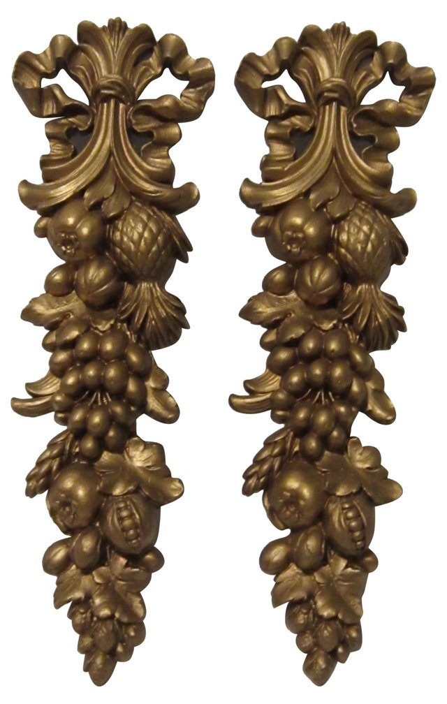 1960s Fruit Wall Accents, Pair