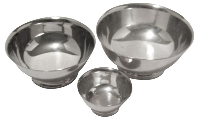 Silverplate Bowls, Set of 3