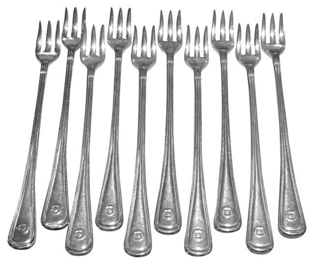 Hotel Plate Cocktail Forks, 10 Pcs