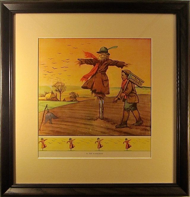 Framed Scarecrow School Poster