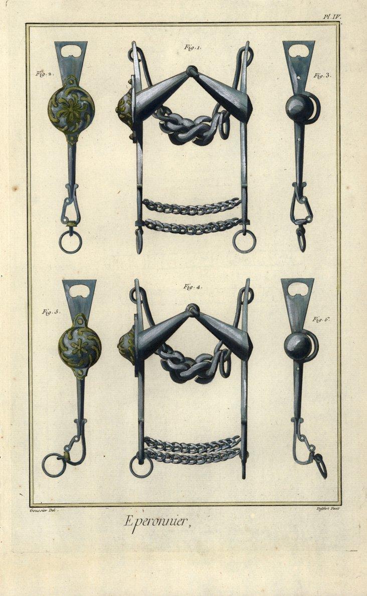1770s Horse  Tack   Print