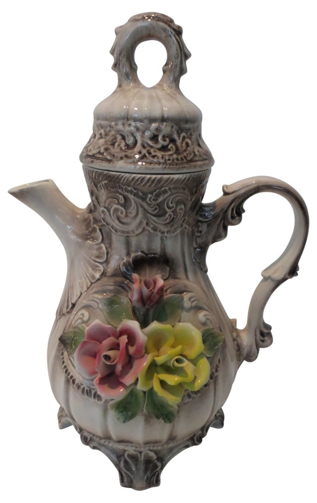 Italian Lidded Pitcher